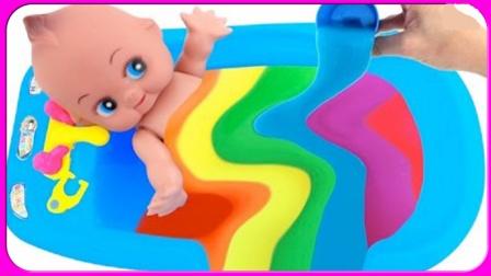 水晶果冻啫喱宝宝洗澡发现新玩具过家家 640