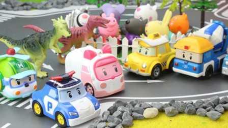 变形警车珀利营救被外星人大恐龙绑架的孩子们 08