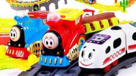 托马斯小火车 运输比赛 卡通火车 火车玩具视频