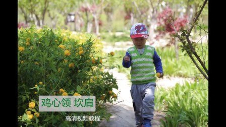 小辛娜娜编织教程:第137集鸡心领毛线马甲宝宝毛衣