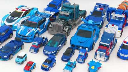 蓝色变形金刚Carbot Tobot MiniForce擎天柱20汽车转型机器人汽车  机器人的新时代,一个新系列OPTIMUS[迷你特工队之英雄的变形金刚]