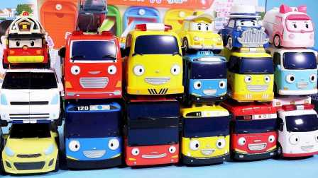 小企鹅PORORO卡车的驾驶员 车俩运输车 运输变形警车珀利 小企鹅啵乐乐