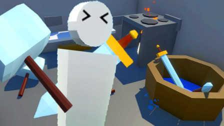 【屌德斯解说】 模拟铁匠 勇者们拿着造好的大宝剑和锤子出征吧