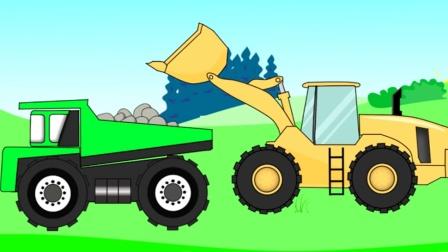 最新挖掘机工作视频 工程车处理路面障碍