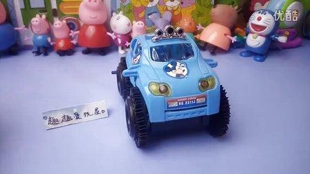 迪士尼 米奇 蓝色电动翻动越野车