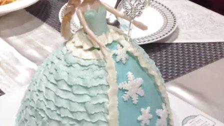 芭比之爱沙生日蛋糕