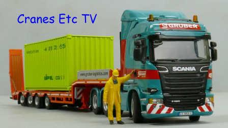 WSI Scania R 580 + Trailer 'Gruber Logistics' by Cranes Etc TV