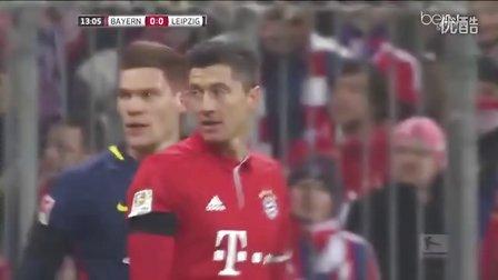 莱万破门蒂亚戈传射 榜首战拜仁3-0完胜莱比锡