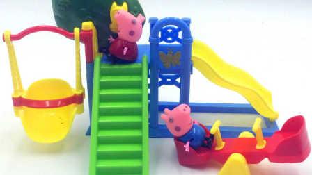 乐高 得宝 消防卡车 积木玩具组 拆箱试玩 粉红猪小妹救援行动