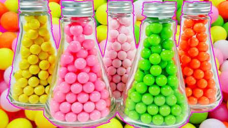 小猪佩奇的糖果瓶子奇趣蛋过家家 05