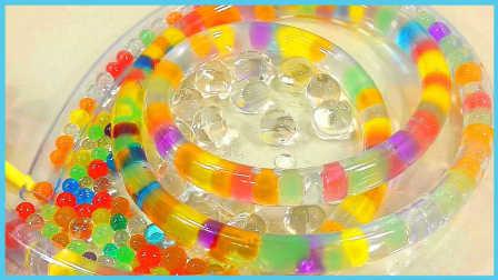 手工DIY水舞珠珠晶莹小水管;彩虹水舞珠珠小玩具试玩!小猪佩奇 #PomPom玩具#