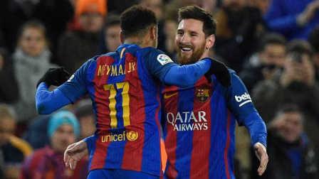 国王杯-MSN进球梅西绝杀 巴萨总分4-3翻盘毕巴晋级