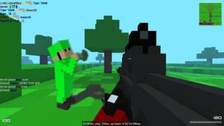 【XY小源】黑桃枪手 试玩OpenSpades蓝绿对战