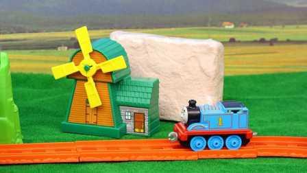 托马斯和他的朋友们  陨石挖掘玩具 托比托马斯护送超大陨石