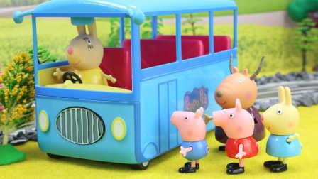 小猪佩奇玩具视频 第一季:羚羊夫人带着小猪佩奇去野餐 美人鱼公主帮乔治找回午餐 大家分享食物 19