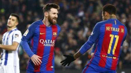 [Copa del Rey1/4决次]FCB 5-2 RSO - Highlights