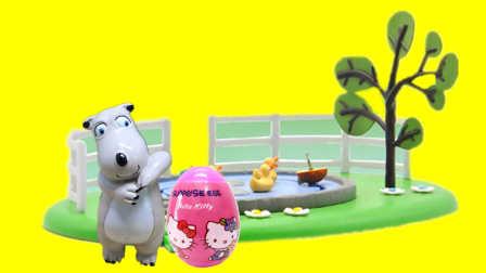 倒霉熊在鸭子乐园拆凯蒂猫玩具蛋 195