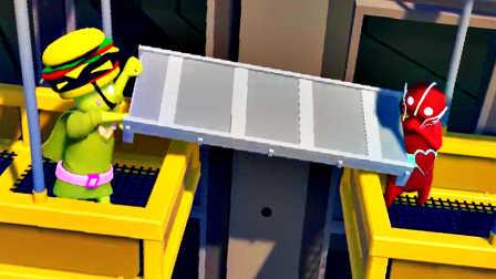 【屌德斯&小熙】 基佬大乱斗 假面超人大战汉堡王!一言不合就拆桥!