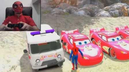 蜘蛛侠在真实生活中玩电脑游戏 迪士尼汽车