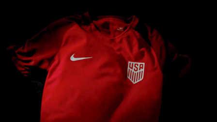 耐克推出美国国家队2017红色客场球衣