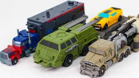 变形警车珀利 拖车斯普奇豪华套装 邮政车 出租车 金属模型 玩具
