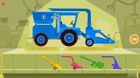 汽车游戏#039期:恐龙农场 汽车玩具儿童游戏 亲子游戏 工程卡车游戏