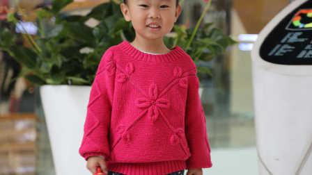 第150集 树叶花朵套头毛衣(中集) 棒针编织宝宝毛衣外套
