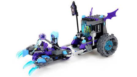 【月光砖厂】乐高LEGO2017未来骑士团NEXO70349雷电女巫的机关监狱战车乐高积木速组评