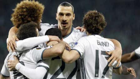 欧联-马塔助攻姆希塔良制胜球 10人曼联总分4-0晋级