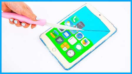 超热培乐多彩泥粘土ipad制作;手工DIY平板电脑玩具试玩!小猪佩奇熊出没 #欢乐迪士尼#