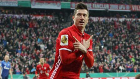 德国杯-莱万2射1传里贝里2助 拜仁3-0淘汰沙尔克