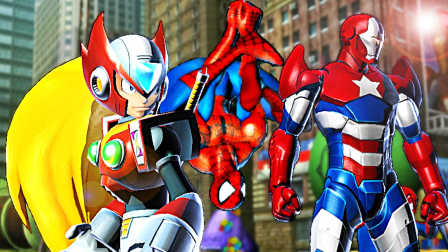 【屌德斯&小熙】 漫威英雄vs卡普空3 超级英雄大集结!钢铁侠,蜘蛛侠还有洛克人齐登场!