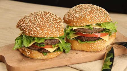 双层牛肉巨无霸汉堡-胖子食堂