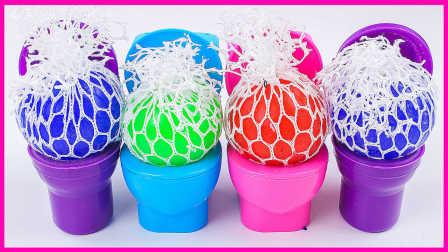彩虹马桶减压球玩具试玩;草莓姐姐玩培乐多鼻涕粘土!健达惊喜奇趣蛋小猪佩奇 #欢乐迪士尼#