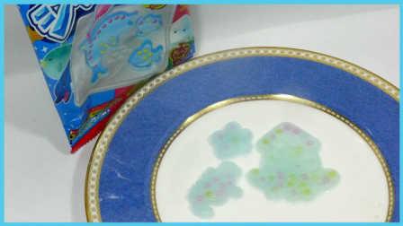 创意DIY彩虹冰冻果冻积木玩具 亲子手工创意美食玩具试玩 小猪佩奇 火影忍者 熊出没