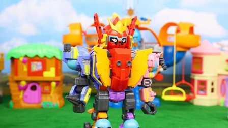 蛋蛋小子 爆能机甲王 蛋蛋小子合体 变形机器人 变形金刚玩具