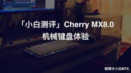「小白测评」Cherry MX8.0机械键盘体验