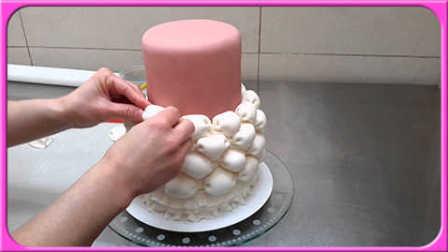 美美哒!创意婚庆蛋糕DIY教程;美女与野兽玩具试玩小创作!白雪公主 艾莎公主 #欢乐迪士尼#