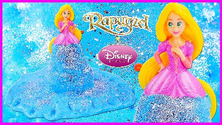 创意制作胡须膏梦幻蓝色裙子;长发公主的闪亮梦幻蓝色裙子!小猪佩奇熊出没 #欢乐迪士尼#