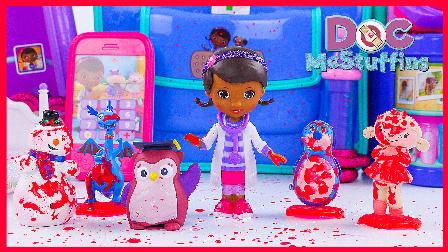 麦芬医生诊所的工作时间;小猪佩奇开救护车接病人!火影忍者奥特曼 #欢乐迪士尼#