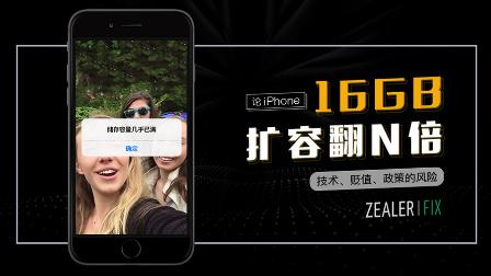 论iPhone16GB 扩容翻N倍--技术、贬值、政策的风险