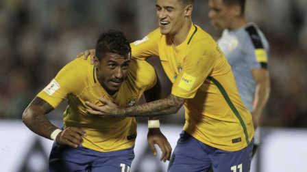 保利尼奥帽子戏法内马尔传射 巴西4-1逆转乌拉圭