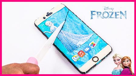 创意玩具培乐多彩泥DIY手机;艾莎公主主题手机玩具试玩!冰雪奇缘小猪佩奇 #欢乐迪士尼#