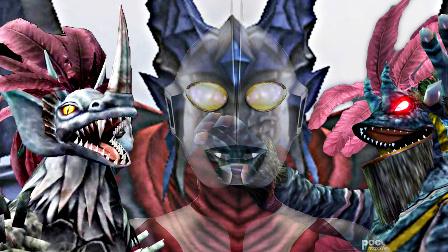 【屌德斯&小熙】 奥特曼格斗进化重生 史上最强怪兽阵容卡欧斯头部EX打败奥特曼毁灭地球