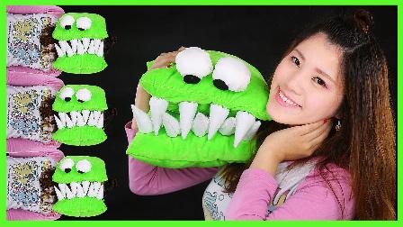 迪士尼姐姐的绿色鳄鱼抱枕;手工制作舒适抱枕DIY教学!熊出没小猪佩奇 #欢乐迪士尼#