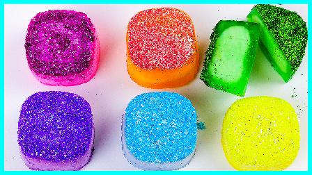 闪闪水晶冰冻果冻手工制作;培乐多水晶粘土闪粉大搞怪!小猪佩奇火影忍者 #欢乐迪士尼#