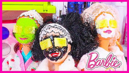 芭比公主美容院做全身护理;水舞珠珠做手部护理扮家家哟!熊出没小猪佩奇 #欢乐迪士尼#