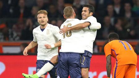 热身赛-埃德尔扳平博努奇反超 意大利2-1逆转荷兰