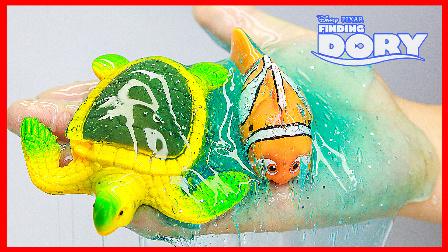 手工制作晶莹剔透水晶海水;培乐多水晶粘土海底总动员之家!小猪佩奇火影忍者 #欢乐迪士尼#