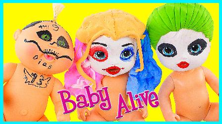 快乐宝贝万圣节的装扮;恐怖宝宝的化妆扮家家!儿童玩具 小猪佩奇 #欢乐迪士尼#